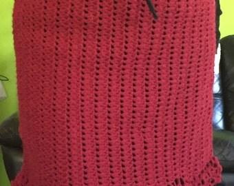 Maroon Crochet Skirt