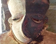 Mbangu Pende Deformity Mask Congo African Art Sickness Mask Picasso Cubism Protection Power Ethnic Tribal Hope Ethnographic Hand Carved Art