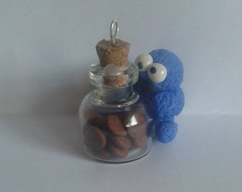 Triky cookie monster jar