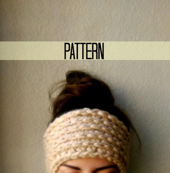 Crochet Ear Warmer Pattern Bulky Yarn : Chunky Crochet Ear Warmer Pattern Ear Warmer Crochet by ...