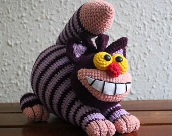 Crochet Cheshire, Cheshire Cat, Plush Toy, Stuffed Animal, Amigurumi doll