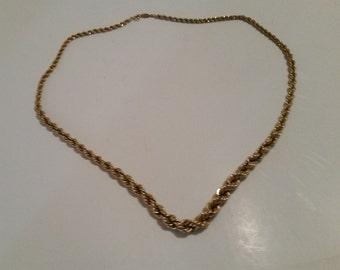 """Vintage Napier Gold Tone Necklace - 22"""" - Excellent Condition!"""