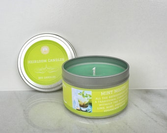 Mint Mojito Soy Candle 8oz tin - Pineapple candle -  Mint soy candle - Lime candle - citrus soy candle - mojito scented - tropical candle