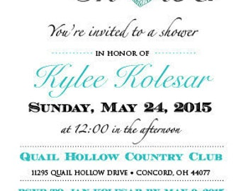 Bridal Shower Invitations - Customizable Digital File