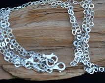 Finished BRACELET 3.5mm Sterling Silver - Ready to Sell- 3.5mm Flat Circle Link with 11mm Lobster Clasp- Link Chain, Cable Chain - Bulk Qty