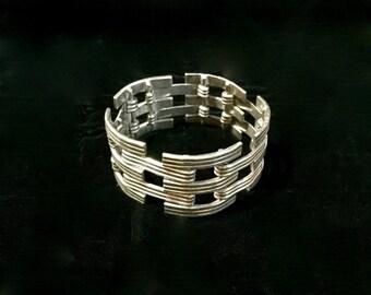 Vintage Huge Sterling Silver Frida Kahlo Bracelet