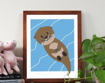 Little otter print