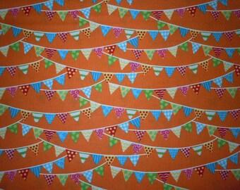 Nautical Flags on Orange Background, Bloomin Fresh by Deb Strain for Moda Fabrics, 100% Cotton