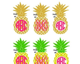 "Shop ""pineapple monogram decal"" in Office"
