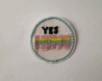 Yes Homo Gay Pride Badge