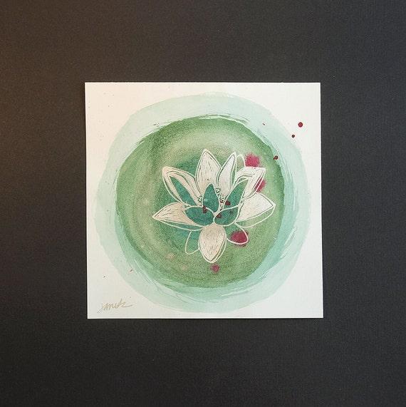 Wall Art - Lotus Flower Mixed Media