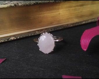 Simple Rose Quartz Ring ~ Adjustable