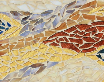 GLISTENING WAVES : Mosaic Wall Art