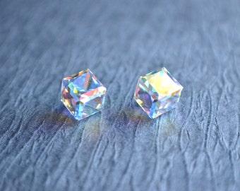 Alice - Clear AB Swarovski Stud Earrings