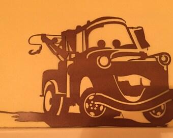 Disney Cars movie, Tow Mater metal wall art decor, nursery, kids bedroom, play room