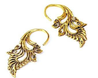 Tribal Earrings, Brass Earrings, Ethnic Earrings, Indian Earrings, Gold Earrings, Tribal Jewelry, Brass Jewelry, Indian Jewellery