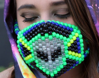 Alien LED Kandi Mask
