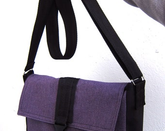 Purple crossbody bag Small messenger bag Hipster bag Purple cross body bag Shoulder purse
