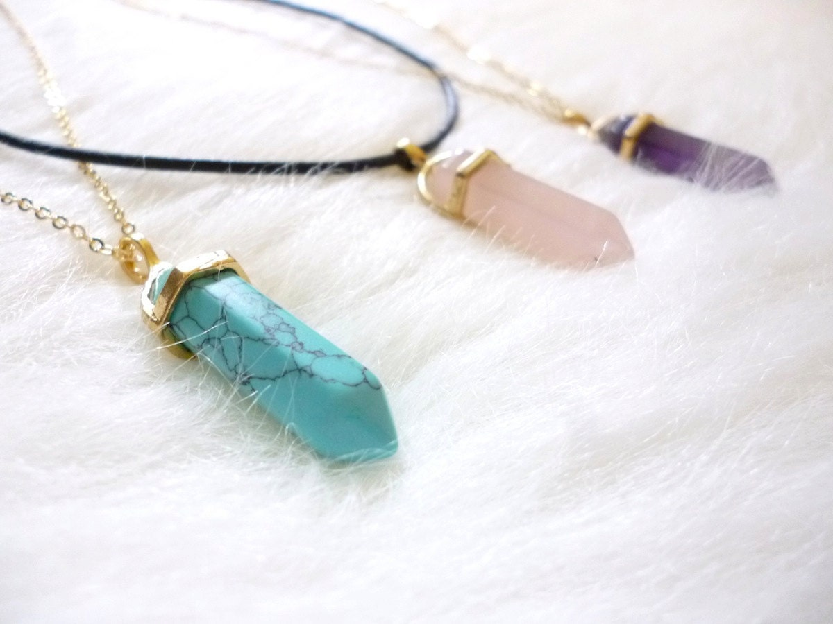 necklace healing crystals and by spacebearproductions