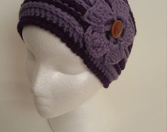 Purple and Lilac Winter Beanie