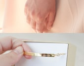 Bridesmaid Gift - Bridesmaid Jewelry - Bridesmaid Bracelet (Gold Bar Bracelet with CZ)