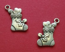 10 pc Christmas Stocking Silver - CC253