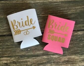 Bride / Bride Squad - Bridesmaid / Bachelorette (multiple colors available)