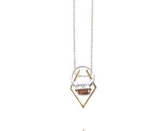 Gold Shiny Bases Loaded Necklace Ring Holder/Ring Holder Necklace