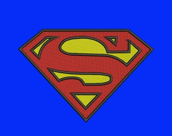Superman Logo - 8 Size Embroidery Designs Super Hero Logos ~ INSTANT DOWNLOAD ~ Machine Embroidery Pattern