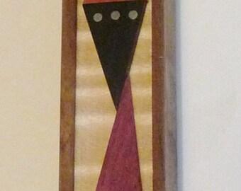 """4""""Cubist style mezuzah"""