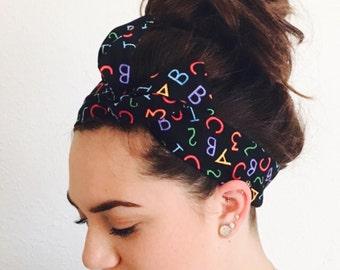 ABC & 123 Twisty Headband