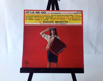 French musette accordion vinyl record