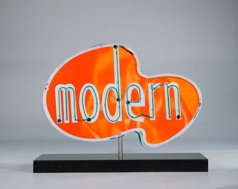 Modern Neon Sign Photo / mid century modern / vintage neon sign / retro decor / 50's decor / modern / mid century decor / restaurant sign
