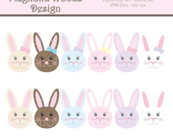 Bunny Clip Art, Easter Bunny Digital Clip Art, Spring Clip Art, Easter Bunny Images, Small Commercial Clip Art, Easter Clip Art