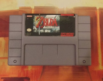 The Legend of Zelda: Parallel Remodel - Super Nintendo SNES - Repro English