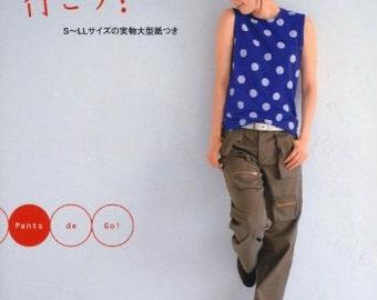 PANTS DE GO - Japanese Book Sewing patterns pants Border Sarueru tweed buggy leggings Sato Watanabe