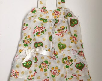 Vintage Handmade Hearts and Flowers Romper Baby Girls Infant 6 - 9 Months