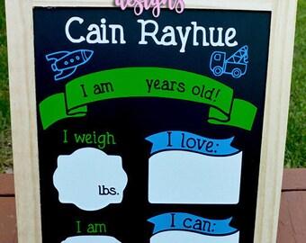Kid's Birthday Board - DRY ERASE board