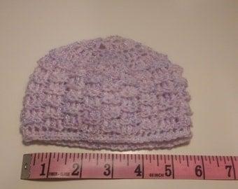 Lavender/purple Newborn Baby Wool Hat