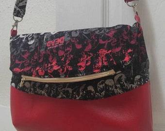 SALE*** Red Vinyl Walking Dead foldover crossbody bag!