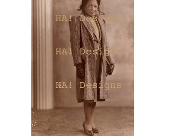 Vintage Photo - The Queen of Style - African American Woman - Instant Download