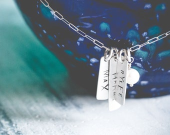 Names Necklace {Sterling Silver}