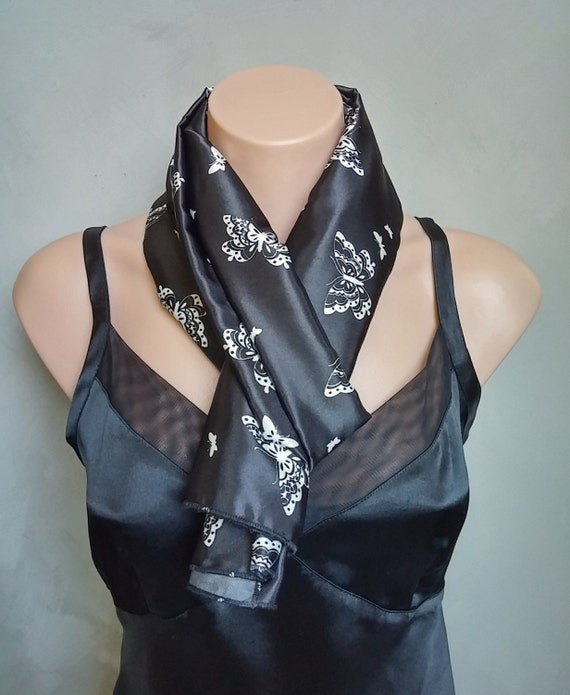 Butterfly Satin Scarf
