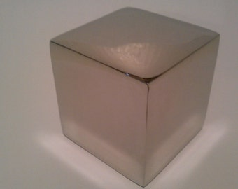 Solid STAINLESS STEEL Cube Sculpture (also available in Solid BRASS)
