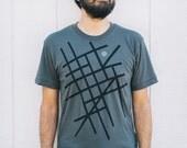 You Are Here - men's graphic tee - mens tshirt - roadtrip screenprint on asphalt gray - t shirt men - gift for travelers - wanderlust shirt
