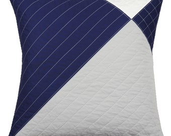 Decorative Throw Pillow - Modern Blueberry Wingtip
