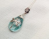 Reserved for Genevieve oO A FLEUR D'EAU Oo aquamarine briolette necklace