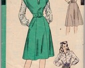 """Vintage Sewing Pattern 1940's Ladies' Dress Hollywood 1776 Size 34"""" Bust - Free Pattern Grading E-book Included"""