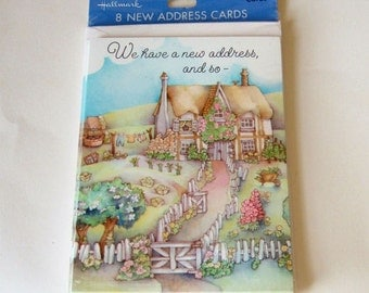 Cute Cottage New Address Cards - Unopened Vintage Pack from 1980s for Moving House