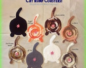 Cat Rump Coasters - CHOOSE 6